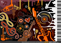 Musical instruments and symbols