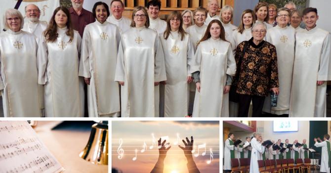 Choir and Handbell Choir Rehearsals THIS AUGUST! image