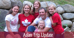 Asian trip update