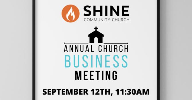 Shine Annual Church Business Meeting