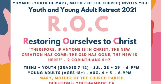 Teen, Youth and Young Adult Retreat 2k21!  image
