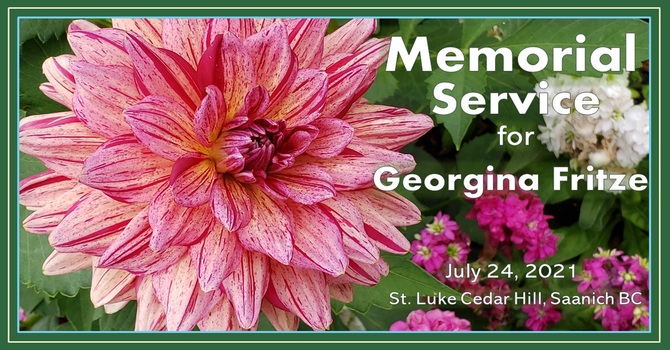 Memorial Service for Georgina Fritze - Recorded Service Is Now Available image