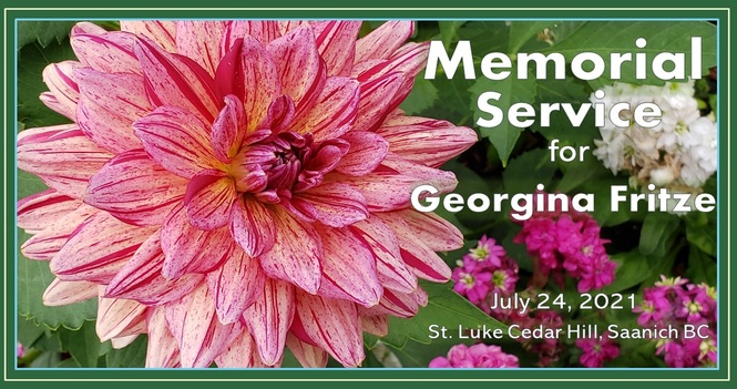 Memorial Service for Georgina Fritze - Recorded Service Is Now Available