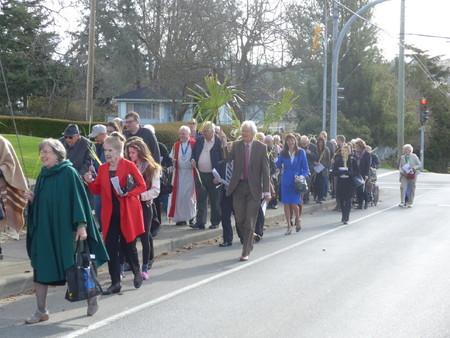 A Joyful Palm Sunday Procession
