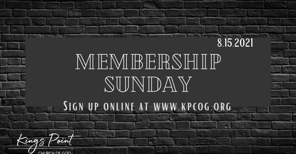 Membership Sunday