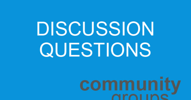 Discussion Questions: October 11 image
