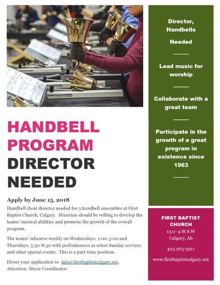 Handbell Program Director Needed