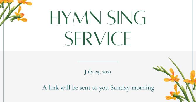 Sunday Service - July 25th image