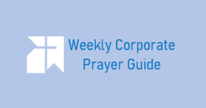 Corporate Prayers for August 1st