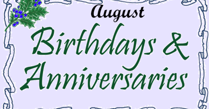 Look who is celebrating this week - August 1 - 7, 2021! image