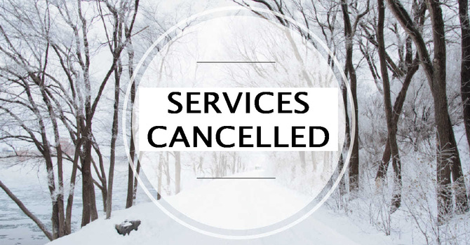 Cancellation of All Worship Services image