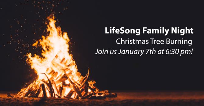Church Family Night - Christmas Tree Burning