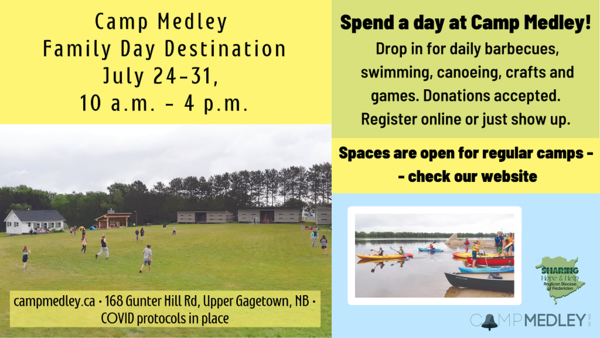 Camp Medley Family Drop-in Days