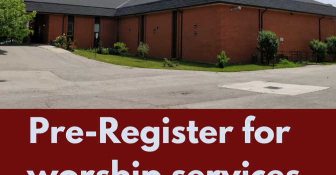 Pre-Register for Worship Services image