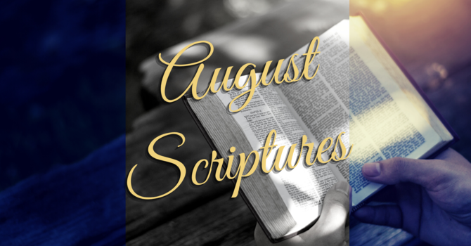 Scriptures for August image