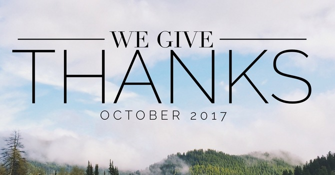 We Give Thanks image