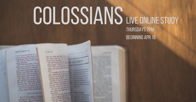 Colossians Online Bible Study