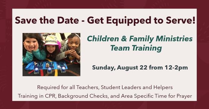 Children & Family Ministries Team Training