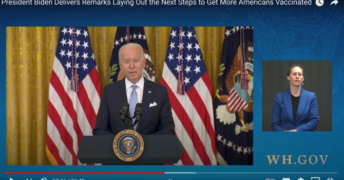 ALERT & WARNING - Biden Pushing Against Non-V's image