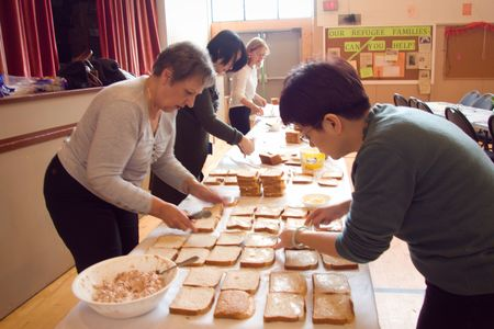 Sandwich making for First United