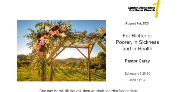 Bulletin for Sunday, August 1st, 2021 image