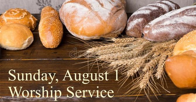 Sunday, August 1 Worship Service image