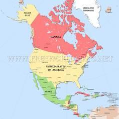 Northamerica map editable