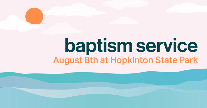 Outdoor Baptism Sunday Service image