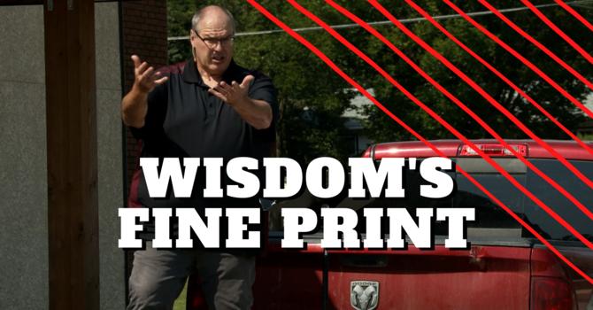 Wisdom's Fine Print