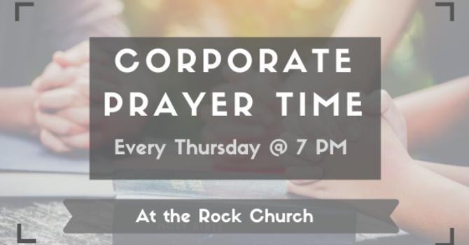 Corporate Prayer Time