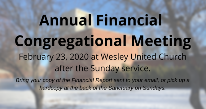 Wesley's Annual Financial Meeting