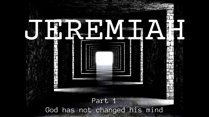 God Has Not Changed His Mind