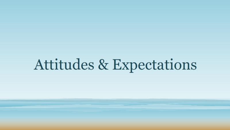 Attitudes & Expectations