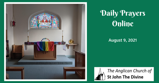 Daily Prayers for Monday, August 9, 2021 image