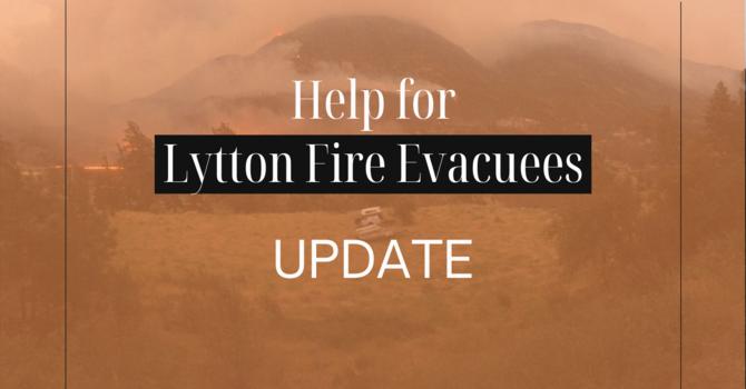 幫助疏散居民的最新消息 Help for Lytton Update 2021-08-27 image