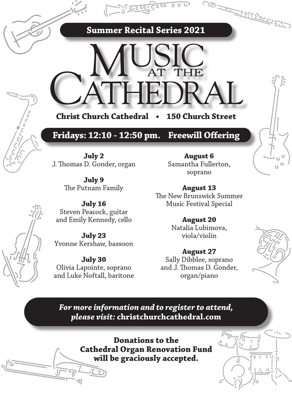 Summer concerts, Fridays at Christ Church Cathedral