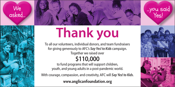 Thank you from the Anglican Foundation