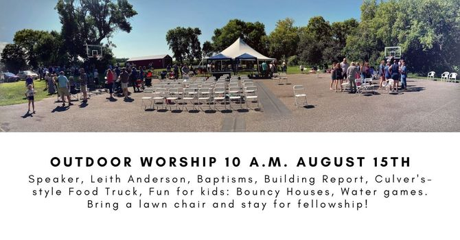 Outdoor Service, Baptism and Picnic  image