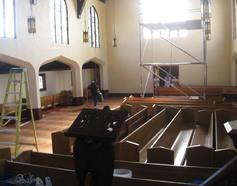 Church in restoration mode