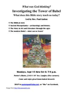 Tower of babel course poster