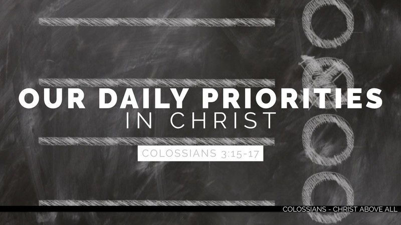 Our Daily Priorities in Christ - Part 3