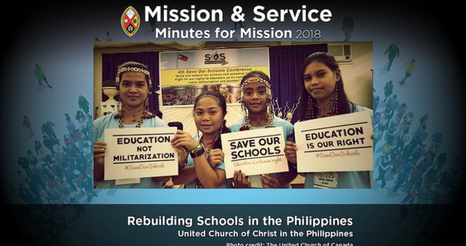 Minute for Mission: Rebuilding Schools in the Philippines