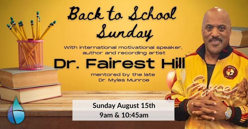 Dr. Fairest Hill speaks