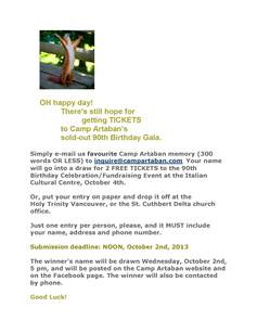 90th gala ticket contest info for synod