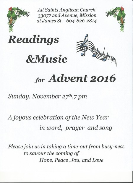 Readings & Music for Advent 2016