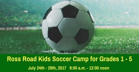 Ross Road Kids Soccer Camp