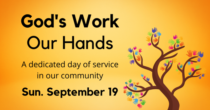 God's Work, Our Hands Sunday