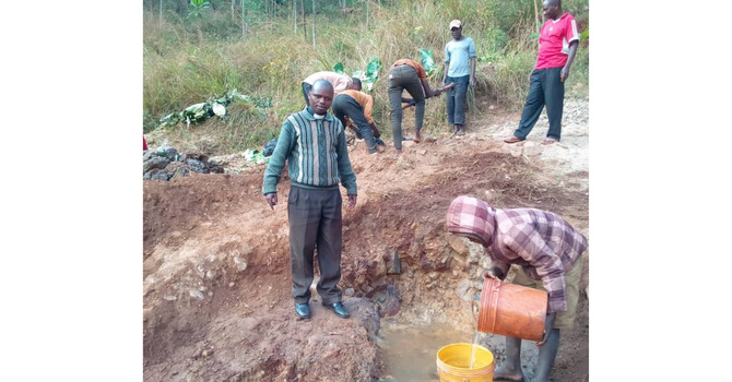 New Community Water Projects Constructed in Buye Diocese