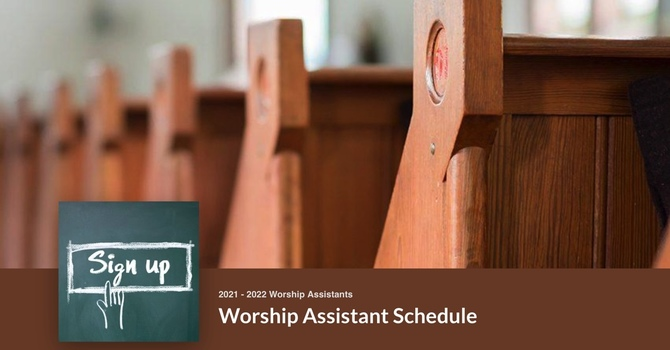Worship Assistant Schedule image
