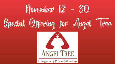 Angel Tree Special Offering Underway